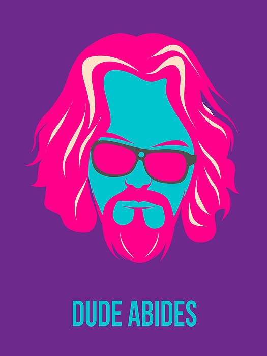 Painting - Dude Abides Purple Poster by Naxart Studio