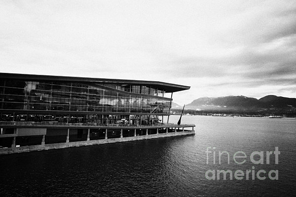 Early Photograph - early morning at the Vancouver convention centre west building on burrard inlet BC Canada by Joe Fox