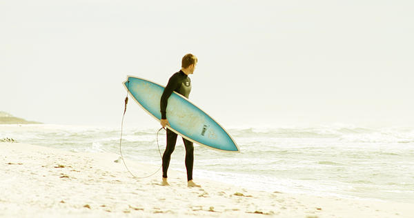 Seascape Photograph - Early Surf by Lindy Brown