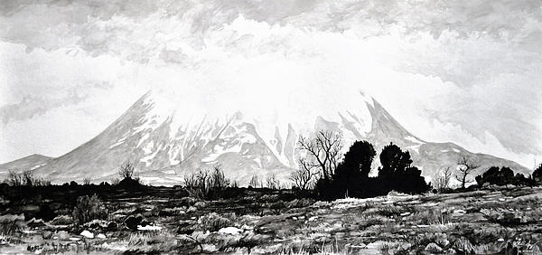 East Spanish Peak Painting  - East Spanish Peak Fine Art Print