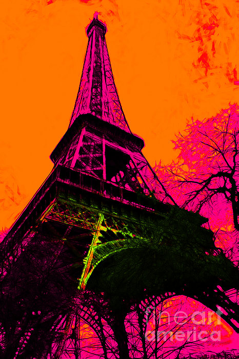 Europe Photograph - Eiffel 20130115v1 by Wingsdomain Art and Photography