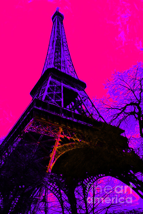 Europe Photograph - Eiffel 20130115v3 by Wingsdomain Art and Photography