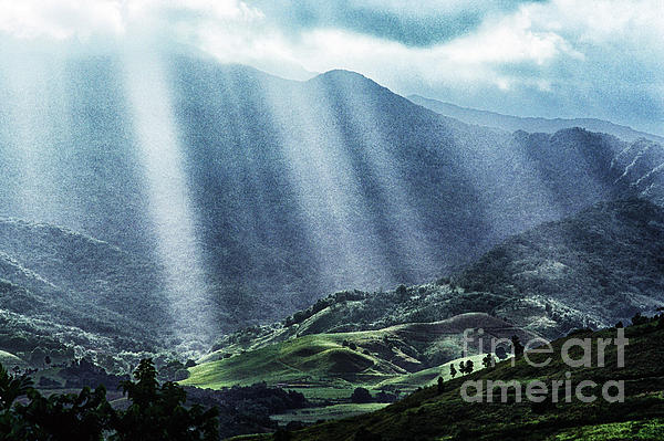 Puerto Rico Photograph - El Yunque And Sun Rays by Thomas R Fletcher