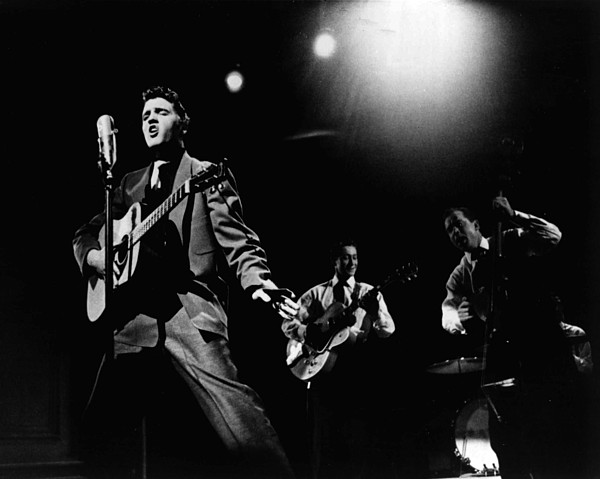 Classic Photograph - Elvis Presley Playing Hard  by Retro Images Archive