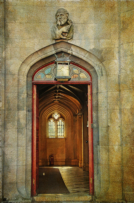 Ireland Photograph - Entrance To The Gothic Revival Chapel. Streets Of Dublin. Painting Collection by Jenny Rainbow