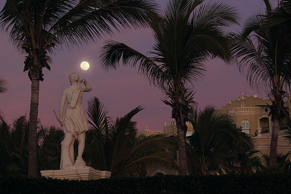 Vacation Photograph - Evening Moon by Shane Bechler
