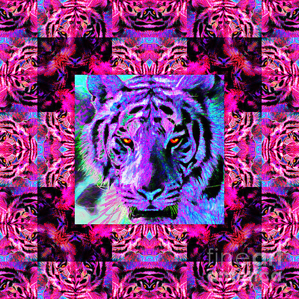 Tiger Photograph - Eyes Of The Bengal Tiger Abstract Window 20130205p0 by Wingsdomain Art and Photography