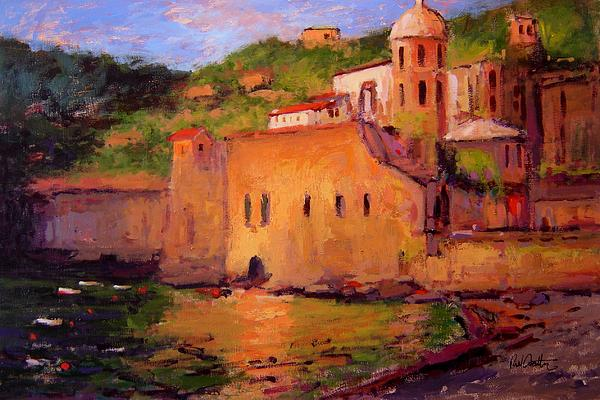 Fauve Painting - Fauvo Vernazza by R W Goetting