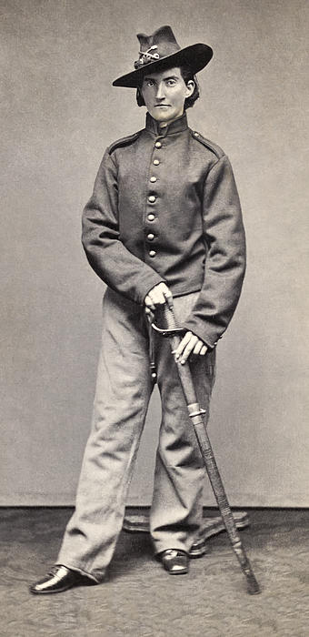 Female Combat Soldier Alias Jack Williams - U. S. Civil War Photograph  - Female Combat Soldier Alias Jack Williams - U. S. Civil War Fine Art Print
