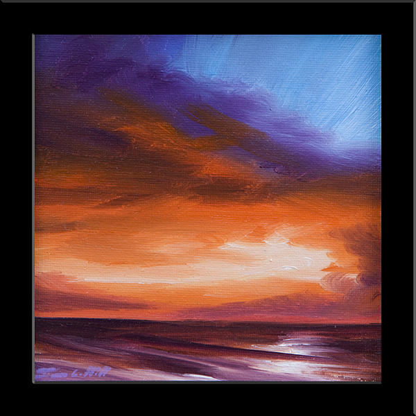 Sunrise Painting - Firesun Sky by James Christopher Hill