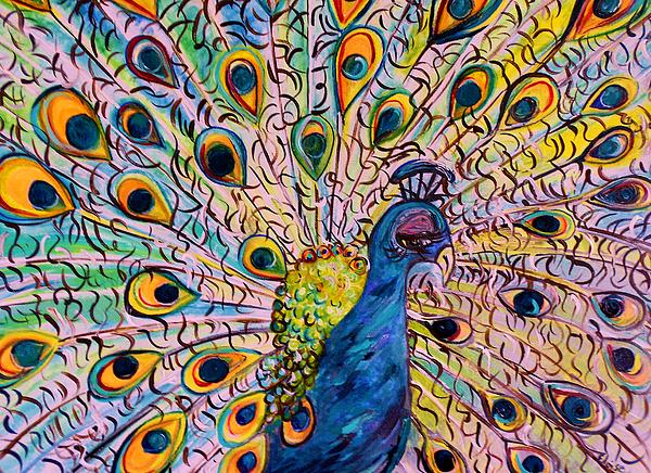 Flirty Peacock Painting