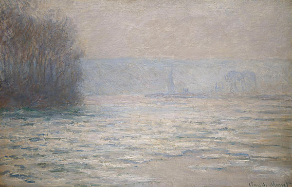 French Painting - Floods On The Seine Near Bennecourt by Claude Monet