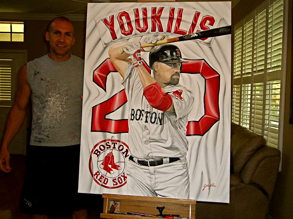 For Sale   Youkilis  Original Painting  Painting