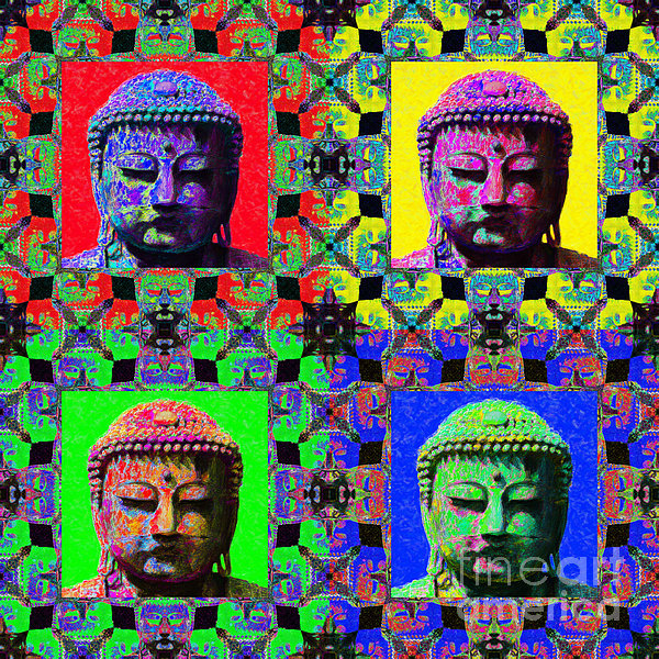 Religion Photograph - Four Buddhas 20130130 by Wingsdomain Art and Photography