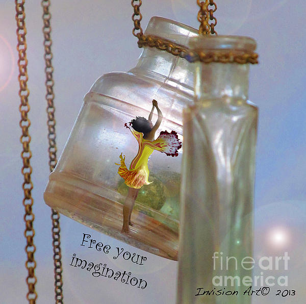 Fairy Photograph - Free Your Imagination by Bobbie S Richardson