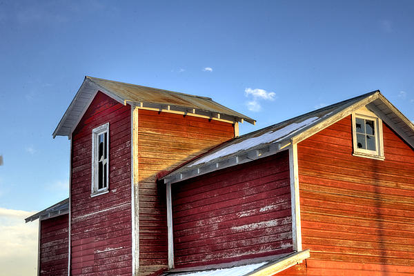 Ft Photograph - Ft Collins Barn Sunset 13505 by Jerry Sodorff