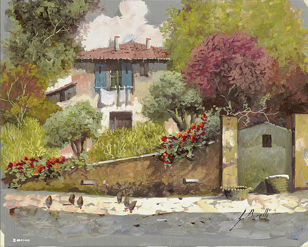 Silber Painting - Galline by Guido Borelli