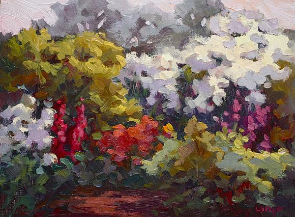 Colorist Painting - Gamble Gardens by Carol Smith Myer