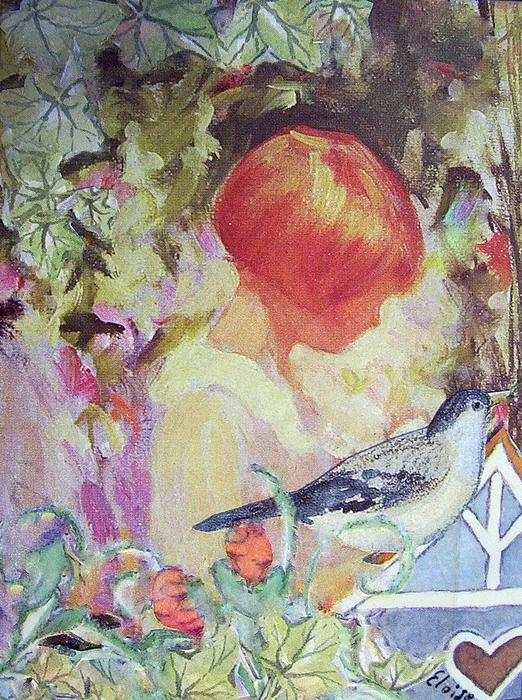 Eloise Schneider - Garden Girl - Antique Collage