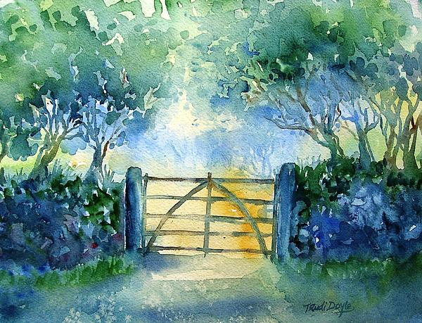Gateway To The Harvest Field  Painting  - Gateway To The Harvest Field  Fine Art Print