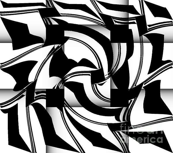 Drinka Mercep - Geometric Art Black and White Abstract No.173.