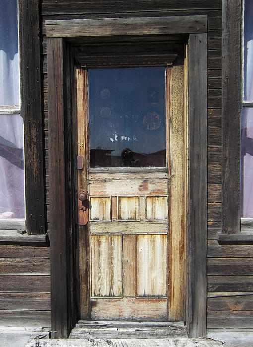 Ghost Town Handcrafted Door Photograph  - Ghost Town Handcrafted Door Fine Art Print