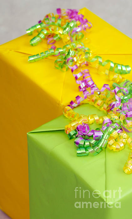 Birthday Photograph - Gifts With Ribbon by Amy Cicconi
