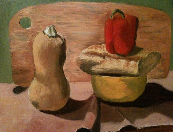 Still Life Painting - Go Vegan by Mila Kronik