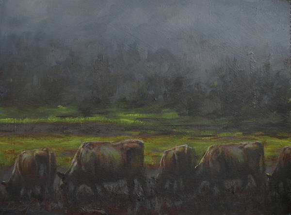 Cows Painting - Grass Its Whats For Dinner by Mia DeLode