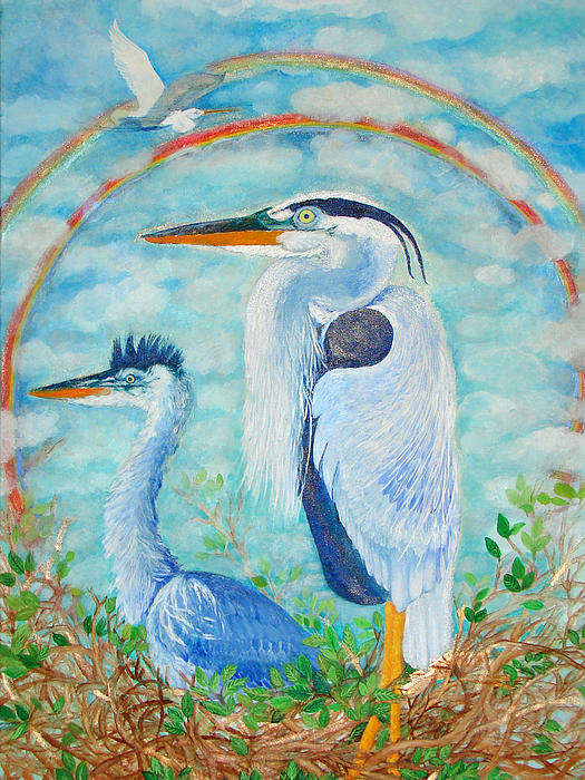 Ashleigh Dyan Bayer - Great Blue Herons Seek Freedom