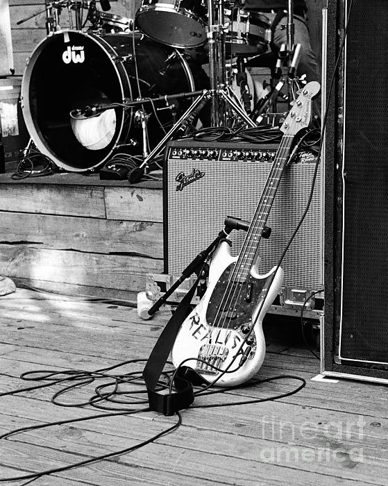 Guitar Photograph - Guitar Realist On Stage by Sonja Quintero
