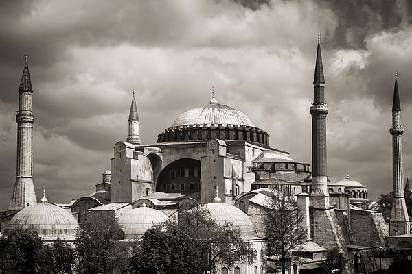 For Ninety One Days - Hagia Sophia Istanbul Black And White