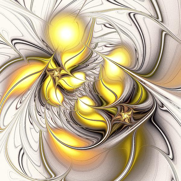 Happy Yellow Digital Art  - Happy Yellow Fine Art Print