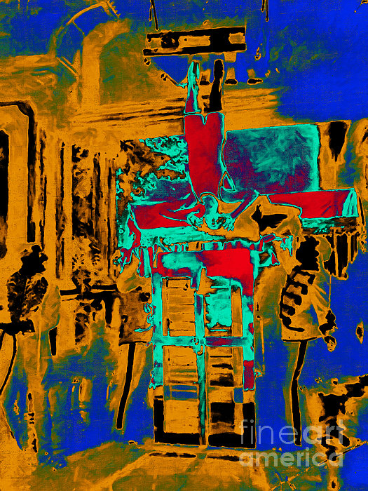 Houdini Photograph - Harry Houdini And The Chinese Water Torture In Abstract by Wingsdomain Art and Photography