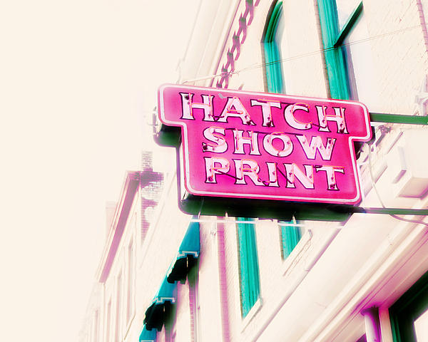 Nashville Sign Photography Photograph - Hatch Show Print by Amy Tyler