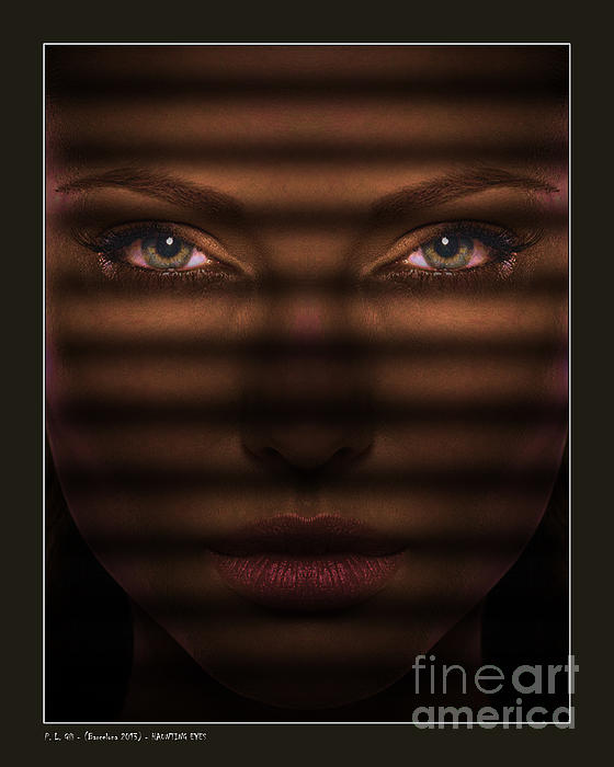 Haunting Eyes Digital Art  - Haunting Eyes Fine Art Print