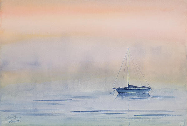 Michelle Wiarda - Hazy Day Watercolor Painting
