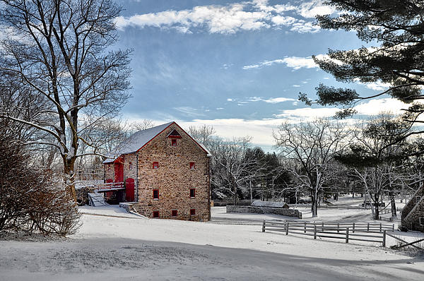 Highland Photograph - Highland Farms In The Snow by Bill Cannon