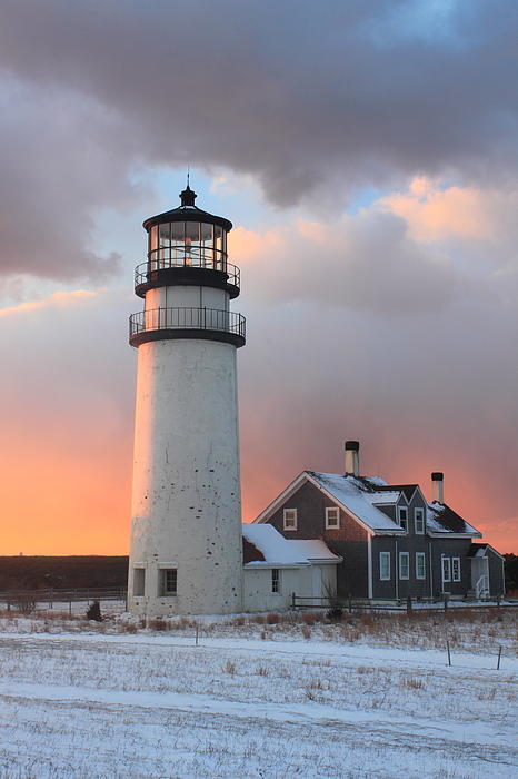 Highland Lighthouse Cape Cod Winter Sunset Photograph by ...