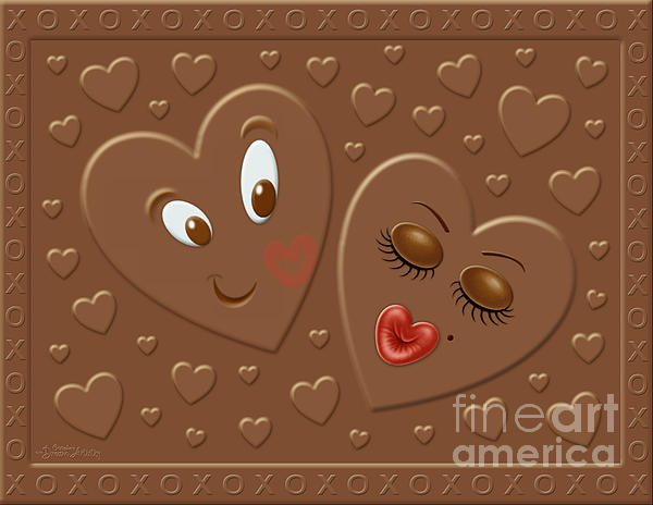 Valentine Digital Art - His And Hersheys by Cristophers Dream Artistry