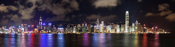 Hong Kong Skyline 2 Photograph  - Hong Kong Skyline 2 Fine Art Print