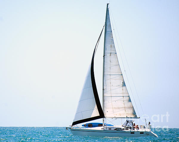 Hope Floats Sailboat From The Book My Ocean Photograph  - Hope Floats Sailboat From The Book My Ocean Fine Art Print
