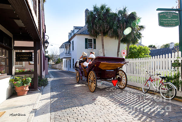 Horse And Buggy Ride St Augustine Photograph - Horse And Buggy Ride St Augustine by Michelle Wiarda