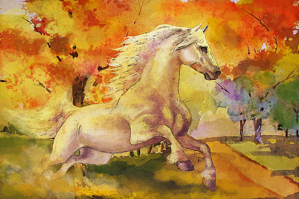 Horse Paintings 003 Painting  - Horse Paintings 003 Fine Art Print