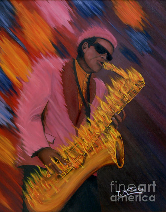 Hot Sax Painting  - Hot Sax Fine Art Print