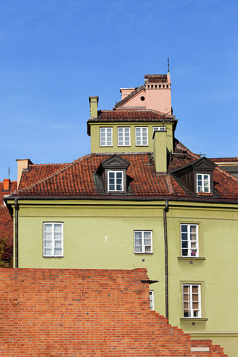 Warsaw Photograph - House In The Old Town Of Warsaw by Artur Bogacki