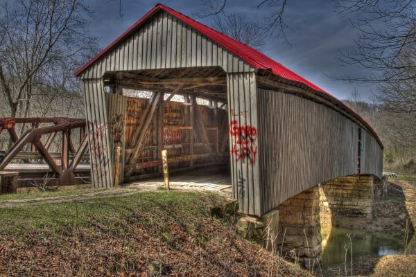 Humpback Covered Bridge Photograph  - Humpback Covered Bridge Fine Art Print