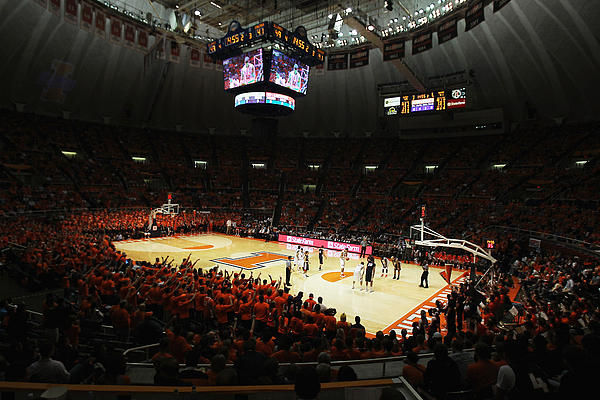 Assmebly Hall Photograph - Illinois Fighting Illini Assembly Hall by Replay Photos