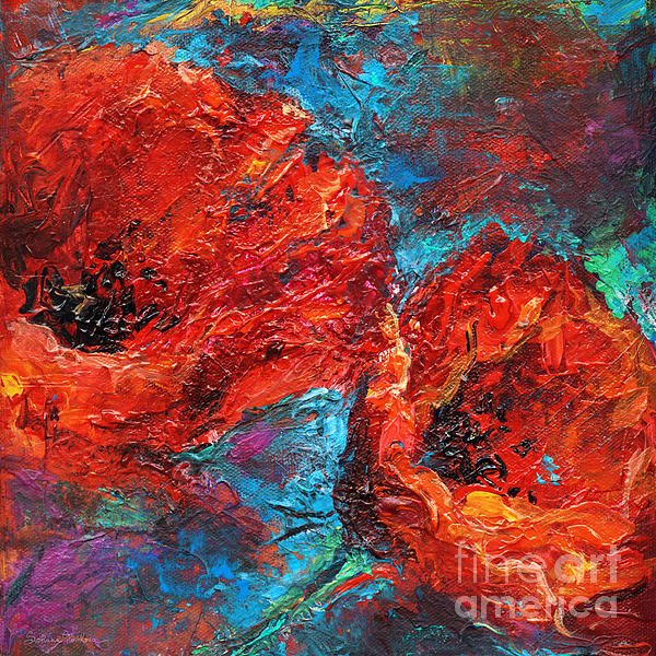 Poppies Painting - Impressionistic Red Poppies by Svetlana Novikova