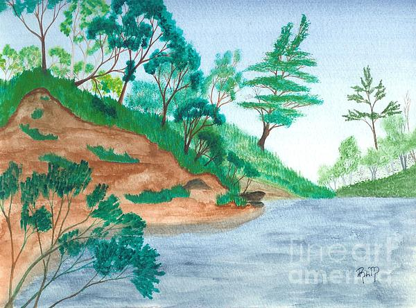 Mine Pit Painting - In A Mine Pit by Robert Meszaros